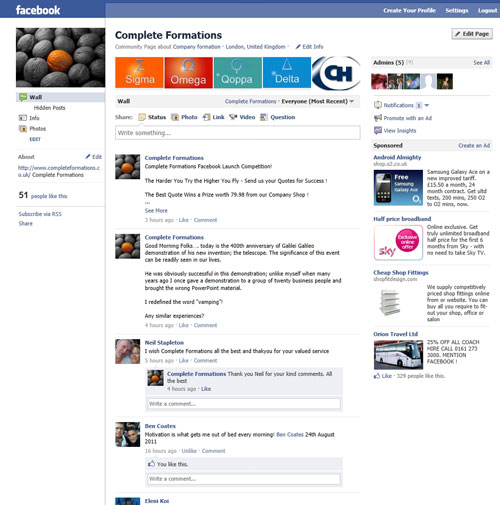 Facebook - Complete Formations - Company Formation Community Pages