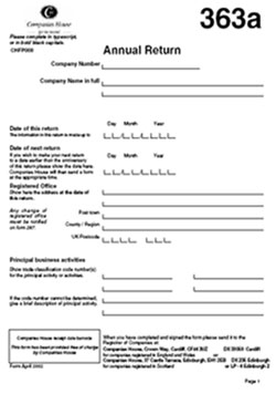 Download Annual Return Form 363